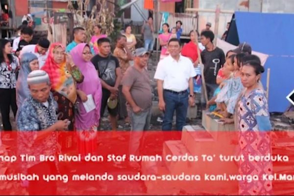 Bro Rivai bantu korban kebakaran Mallengkeri Makassar